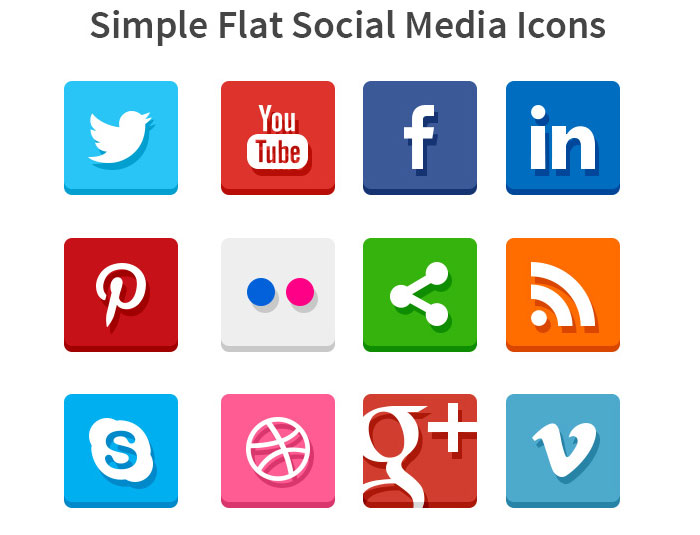 Social Media Icon Set by GraphicsFuel