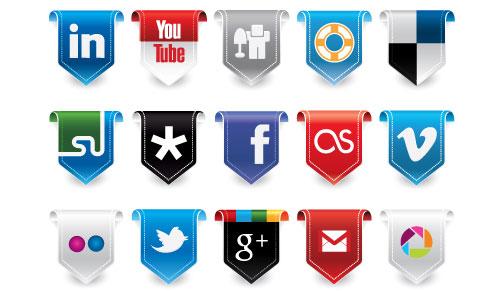 25 Flag Social Media Icons