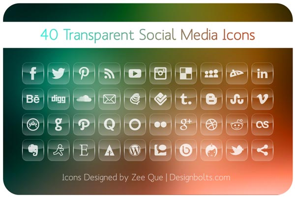 Free Transparent Social Media Icons