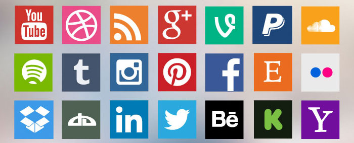 Free Flat Social Media Icon Set in EPS Format