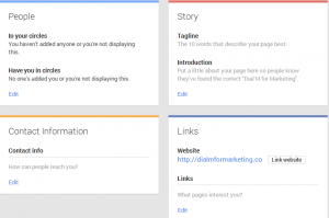 Google+ About Section