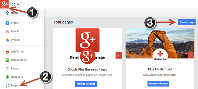 Creating a Google+ Page