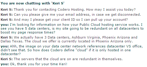Codero Customer Support Keri Dec 27th 2014