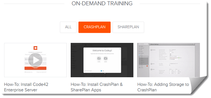 CrashPlan Training