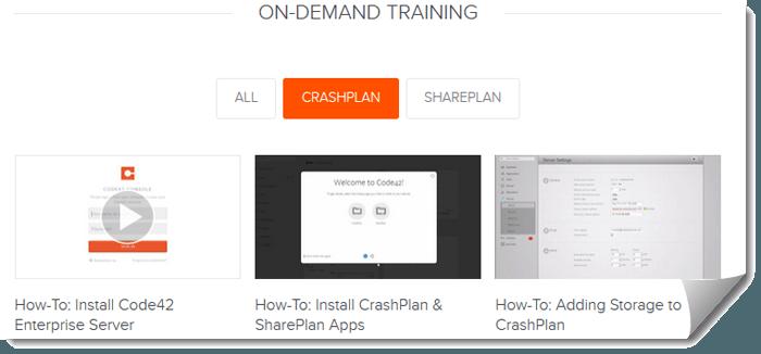 CrashPlan Training