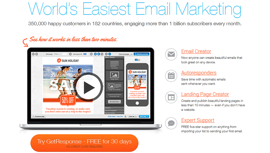 getresponse email marketing service review comparison