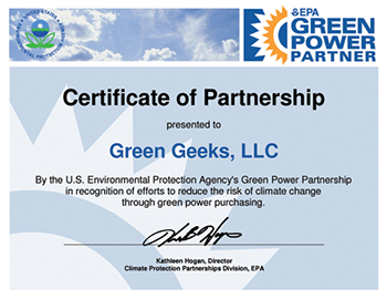 GreenGeeks EPA Rating