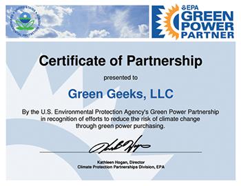 GreenGeeks EPA Rating