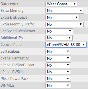 KnownHost VPS Options