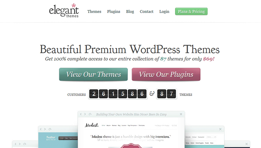 Price Specification WordPress Themes Elegant Themes