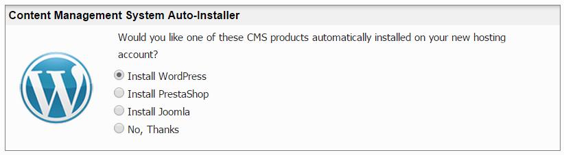 InMotion Hosting Auto WordPress Installer