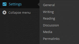The WordPress Settings