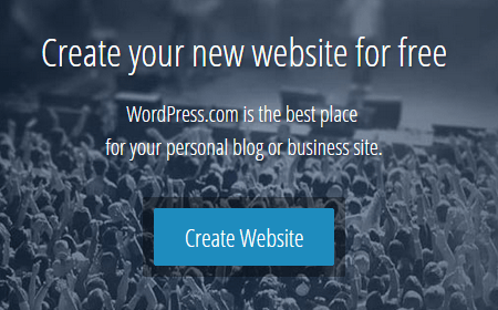WordPress.com Main Page