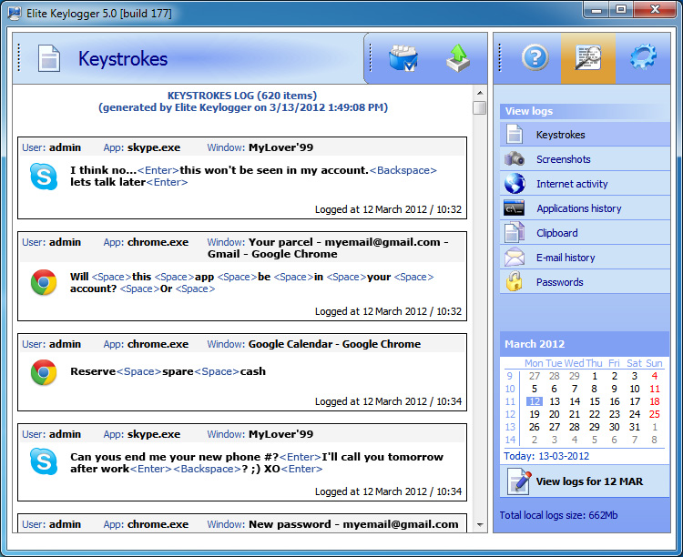 Elite Keylogger Keystrokes