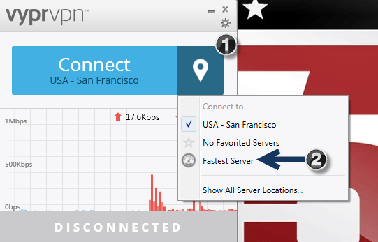 How to Connect on the Fastest Server