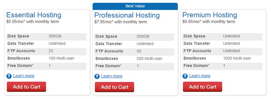 Web.com Hosting Plans