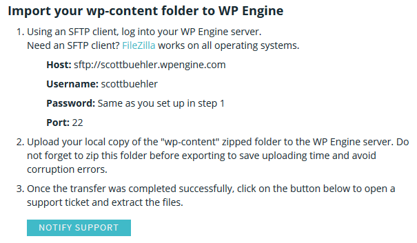 WP Engine Migration Instructions