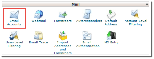 cPanel Email Section