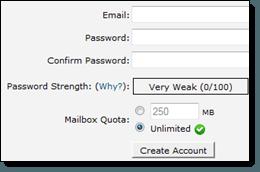 cPanel Setup Email