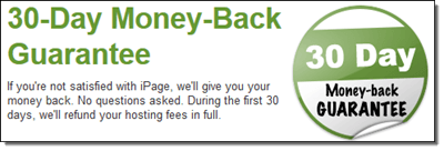 iPage Money Back Guarantee