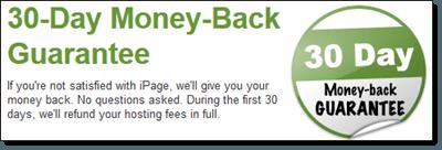 iPage Money Back Guarantee