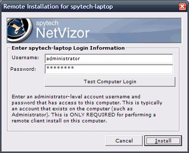 NetVizor Remote Install