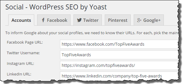 WordPress SEO Social Optimization
