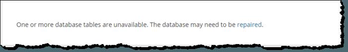 WordPress Database Corruption
