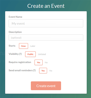 CrowdCast Create Event