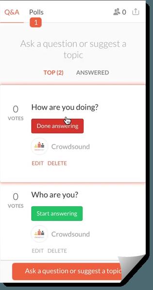 CrowdCast Q&A Polls