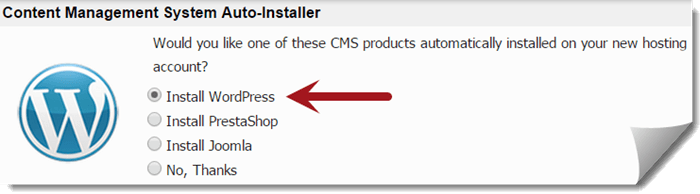 Install WordPress Automatically