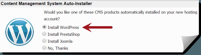 Install WordPress Automatically