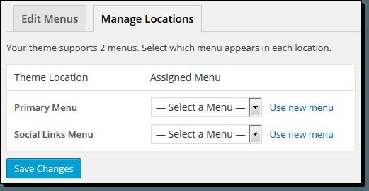 Manage Menu Locations