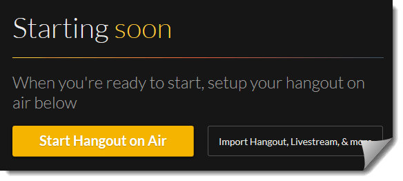 Start Your Hangout Event