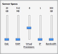 MyHosting VPS Specification Selector